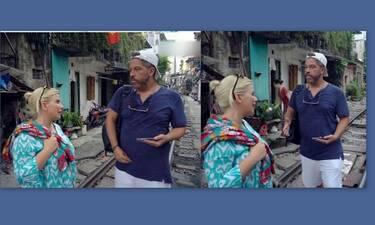Globetrotters: Άγριος καβγάς Χάρη και Αντελίνας Βαρθακούρη: «Τι μ@λ@κ@@ς είναι αυτές! Άντε γ@@@@@@»