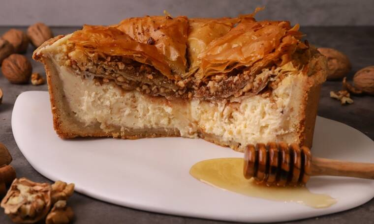 Cheesecake με μπακλαβά- Θα το λατρέψεις!