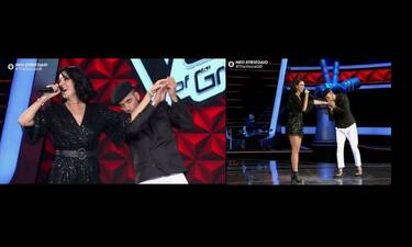 The Voice: «Τρελάθηκε» ο Μουζουράκης - Ανέβηκε στη σκηνή και της φιλούσε τα χέρια (pics&vid)