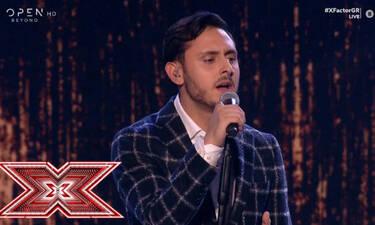 X Factor: Η συγκλονιστική ερμηνεία του Γιάννη Γρόση που καθήλωσε τους μέντορες! (video)