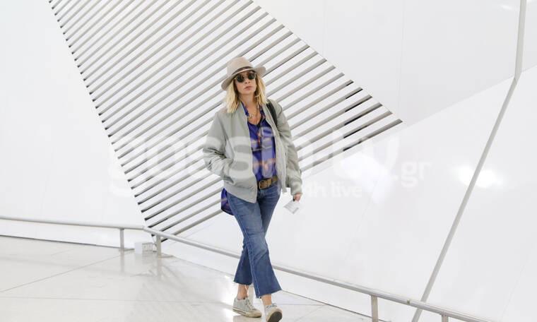 Η Άννα Βίσση για ψώνια στο αεροδρόμιο - Η στυλιστική εμμονή της (photos)