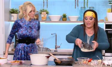 Η Καινούργιου μπήκε στην κουζίνα για να φτιάξει φασόλια και άρχισε κουβέντα για... αέρια! (pics-vid)