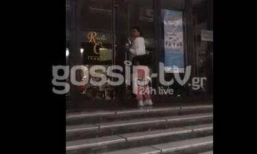 Αποκλειστικό: Ειρήνη Παπαδοπούλου: Μόλις την «τσακώσαμε» στη Θεσσαλονίκη με αθλητικό look (Video)