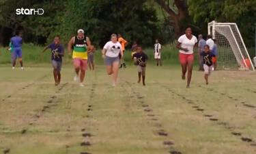 Globetrotters: Ο Χάρης και η Αντελίνα έτρεξαν σε αγώνα δρόμου με το σόι του Γιουσέιν Μπολτ! (video)