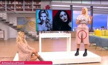 Το πρωινό: Καρέ καρέ το σέξι ατύχημα της Νάνσυς Παραδεισανού! Άνοιξαν τα κουμπιά στη φούστα της!