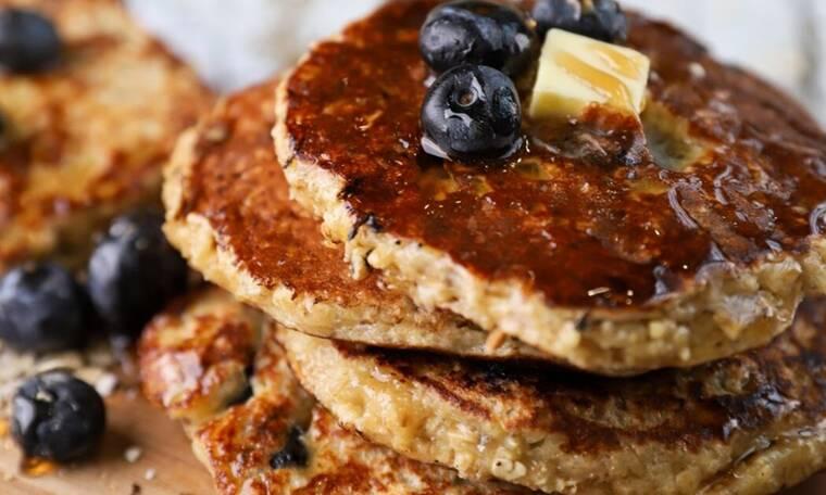 Γρήγορες τηγανίτες με blueberries- Θα τις λατρέψετε!