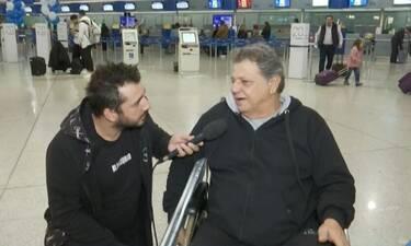 Γιώργος Παρτσαλάκης: Η πρώτη του εμφάνιση μετά το ατύχημα - Δείτε όλα όσα δήλωσε (Video)