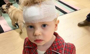 Έξι ράμματα στο κεφάλι για τον γιο της μετά από ατύχημα μέσα στο σπίτι! (photos)