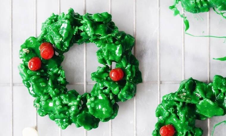 Φτιάξε μόνη σου χριστουγεννιάτικα στεφανάκια ...για φάγωμα