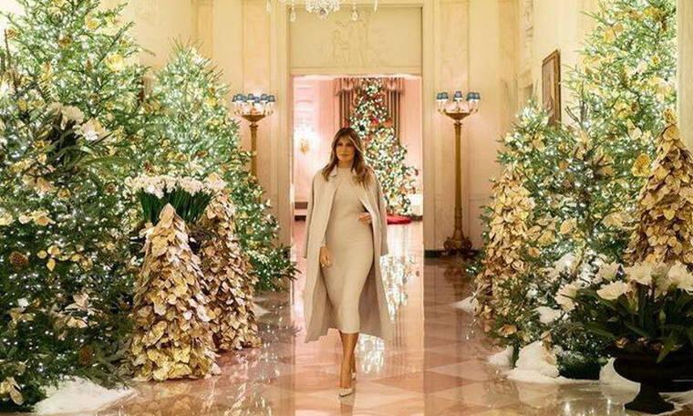 Θα πάθεις πλάκα με τη χριστουγεννιάτικη διακόσμηση του Λευκού Οίκου  που επιμελήθηκε η Μελάνια