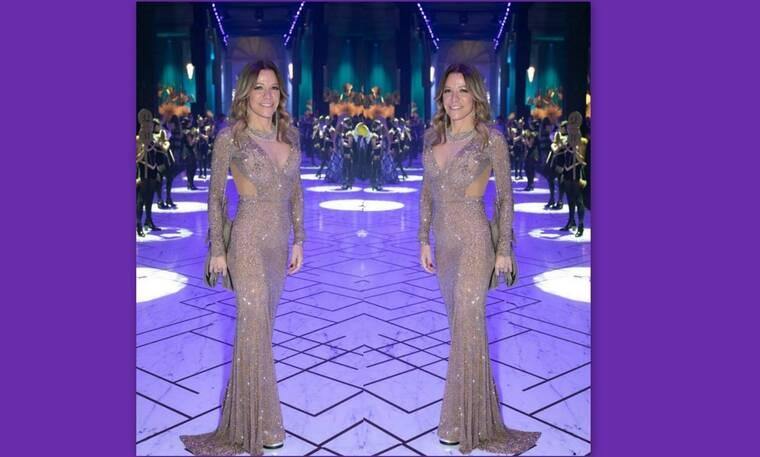 Μαριάννα Λάτση: Έκλεψε τις εντυπώσεις στον γάμο Καίσαρη - Το φόρεμα με τα 250.000 κρύσταλλα