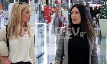 Φλορίντα Πετρουτσέλι: Η εγκυμονούσα για ψώνια με την φίλη της Μαρία Λουίζα Βούρου (Photos)