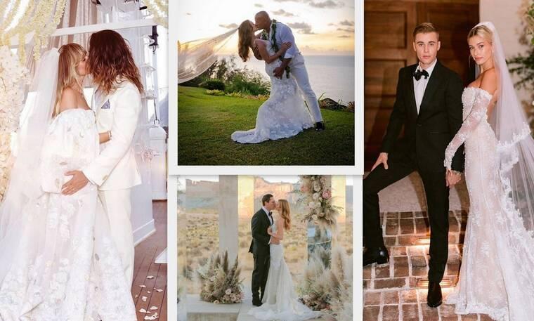 Αυτοί ήταν οι πιο λαμπεροί γάμοι του Hollywood τη χρονιά που φεύγει! (photos)