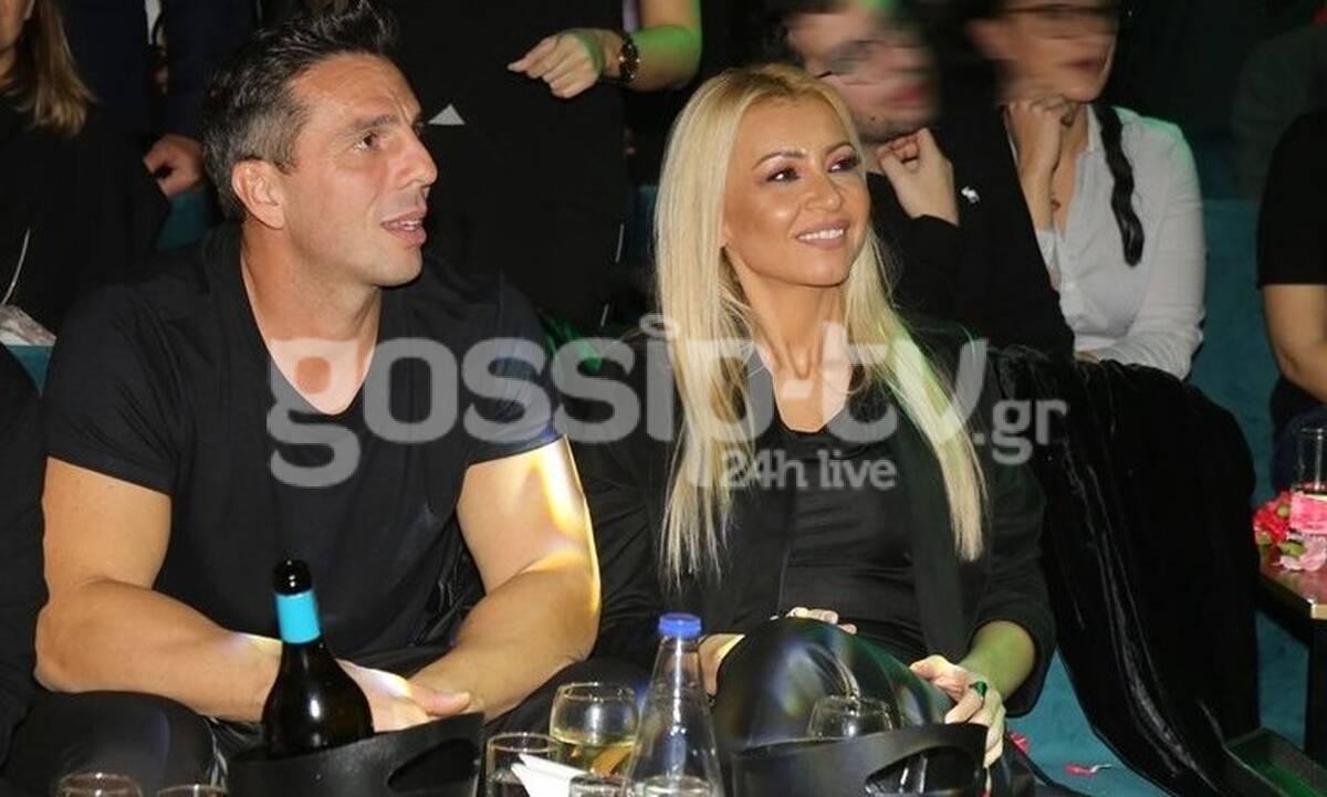 Λένα Παπαδοπούλου: Σπάνια βραδινή έξοδος με τον σύντροφό της (Photos)