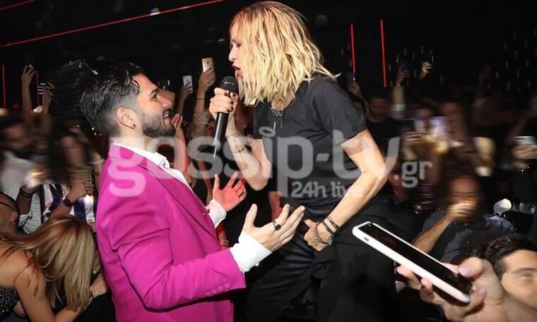 Άννα Βίσση: Το καυτό φιλί στο στόμα on stage με τον Χρήστο Μάστορα! Θα πάθετε πλάκα! (Photos)