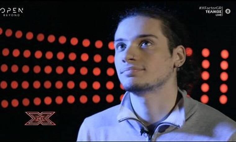 X Factor τελικός: Η συγκίνηση του Δημήτρη Παπατσάκωνα για τον πατέρα του και την αδερφή του (vid)