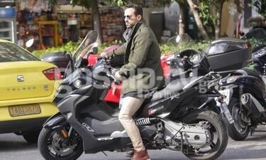 Σάκης Τανιμανίδης: Βόλτα με την καινούργια του μηχανή! (Photos)