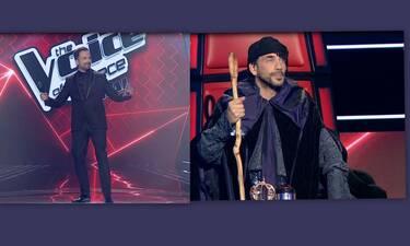The Voice τελικός: «Κάγκελο» ο Λιανός με την ανατρεπτική εμφάνιση του Μουζουράκη!