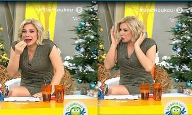 Κατερίνα Καραβάτου: Είδε πλάνο της και φρίκαρε on air! Δεν φαντάζεστε πόσα κιλά έχει πάρει!