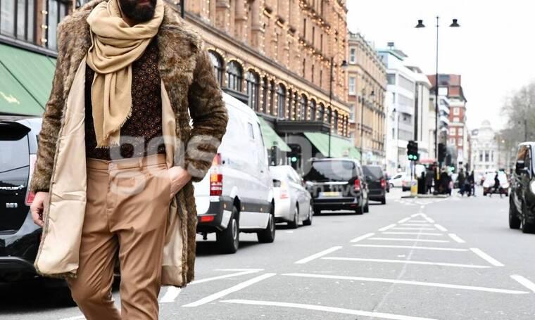 Αποκλειστικό: Τον «τσακώσαμε» στο Λονδίνο και ήταν πιο στιλάτος από ποτέ (Photos)