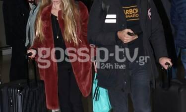 Καιρό είχαμε να τη δούμε και την... τσακώσαμε στο αεροδρόμιο με τον σύντροφό της! (photos)