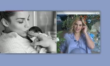 Μαντώ Γαστεράτου: Η συγκίνησή της on air στην Ελένη και οι αδημοσίευτες φώτο με το νεογέννητο!
