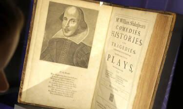 Δες τι συμβαίνει με ένα σπάνιο βιβλίο του Σαίξπηρ