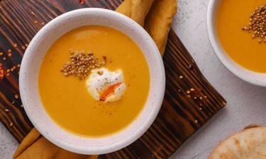 Σούπα με καρότο και φακές