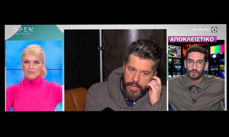 Ευτυχείτε: Μετά την Αντελίνα, ο Χάρης Βαρθακούρης τσακώθηκε και με τον ρεπόρτερ της Καινούργιου!