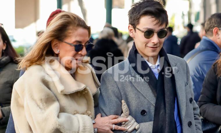 Όλγα Τρέμη: Σπάνια εμφάνιση με τον γιο του συζύγου της – Όλες οι φωτογραφίες (photos)