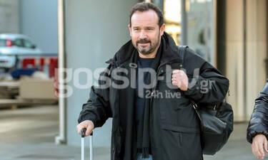 Ο Κώστας Μακεδόνας είναι με μια βαλίτσα στο χέρι (photos)