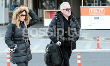 Πέγκυ Ζήνα-Γιώργος Λύρας: Μαζί στη Θεσσαλονίκη και μάλιστα με ίδιο look (photos)