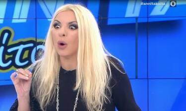 Αννίτα Πάνια: «Της γύρισε το μάτι» και έδιωξε τον… καλεσμένο της! (Video & Photos)