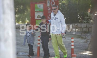 Γιώργος Λιάγκας: Τρυφερές στιγμές με τους γιους του! (photos)