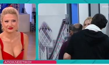 Τρυφερά φιλιά μπροστά στην κάμερα! Τα 'χασε η Φαίη Σκορδά (video+photos)
