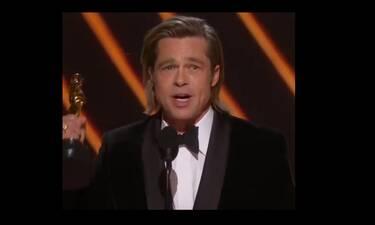 Όσκαρ 2020: O Brad Pitt συγκινημένος αφιέρωσε το αγαλματίδιο στα παιδιά του! (vid+photos)