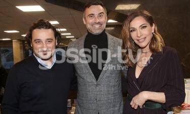 Γιώργος Καπουτζίδης: Ευτυχισμένος στην παρουσίαση του πρώτου του βιβλίου έχοντας κοντά του φίλους!