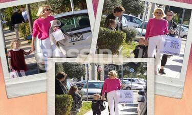 Βίκυ Καγιά: Τρυφερή μαμά για τα παιδιά της! Η βόλτα στη λιακάδα και το παιδικό πάρτυ! (photos)