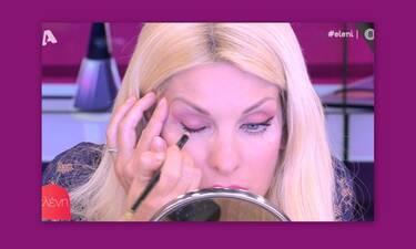 Ελένη Μενεγάκη: Μαθήματα μακιγιάζ από την παρουσιάστρια! Δες πώς θα βάλεις σωστά το eyeliner!
