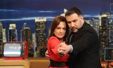 The 2Night Show: Η Ελένη Καρακάση και ο Τάσος Μπουγάς μιλούν για όλα στον Αρναούτογλου (Photos)