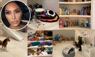 Θα πάθετε πλάκα με το εξωπραγματικό playroom των παιδιών της Kim Kardashian (pics+vid)