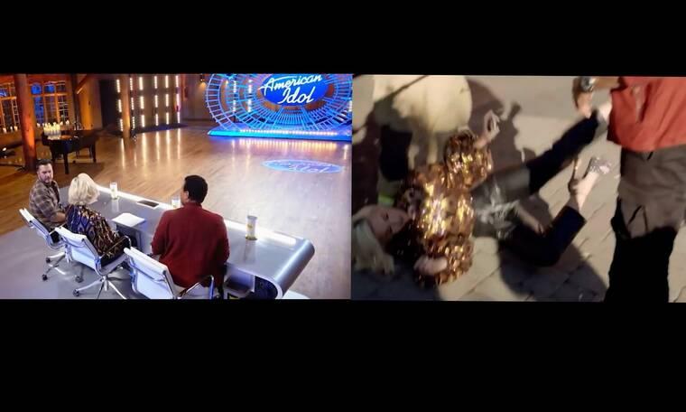Σοκ στο American Idol - Ατύχημα για την Katy Perry - Έπεσε στο πάτωμα με το κεφάλι (Pics-Vid)