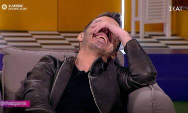 O Χατζηγιάννης... έλιωσε στο γέλιο με αυτό που του είπε ο Νίκος Μουτσινάς! (video+photos)