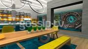 Η εντυπωσιακή τραπεζαρία του Big Brother με φόντο την κουζίνα του σπιτιού