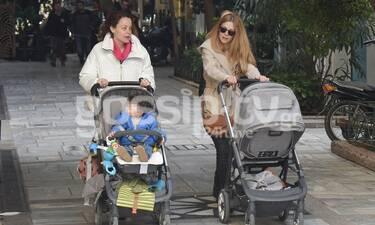 Παπαληγούρα: Πρώτη δημόσια μετά την είδηση ότι είναι ξανά έγκυος! Η βόλτα με την Παππά και τα μωρά!