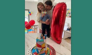 Νίκος Κριθαριώτης - Ναστάζια Δαρίβα: Φώτο από το πάρτι γενεθλίων του ενός έτους γιου τους!