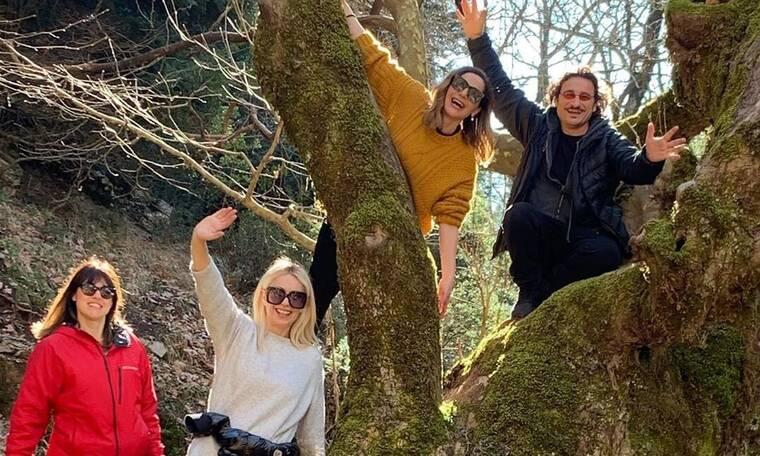 Βανδή - Χαραλαμπόπουλος - Μπακοδήμου: Καθαρά Δευτέρα στο βουνό! Οι πόζες τους στο Instagram!