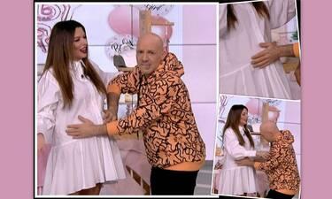 Ν. Ράλλη: Πρώτη τηλεοπτική εμφάνιση με φουσκωμένη κοιλίτσα! Το όνομα του μωρού και ο γάμος(vid+pics)