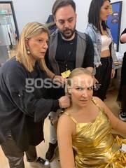 Καρά καρέ η προετοιμασία της Μαρίας Ανδρούτσου στο σημερινό YFSF