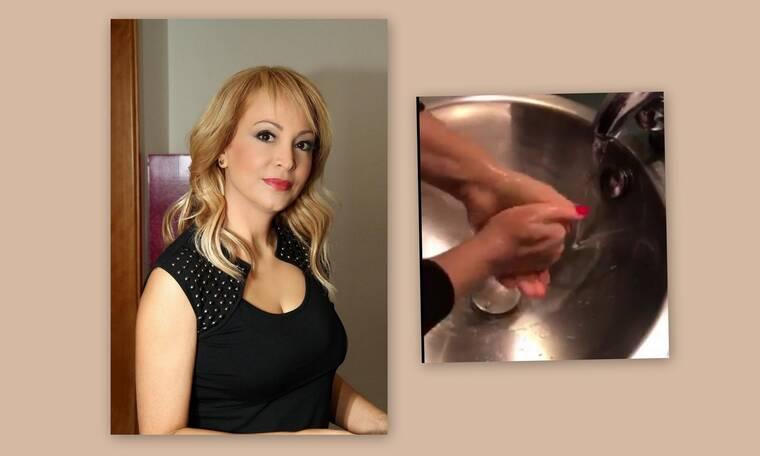 Κορονοϊός: Η Τέτα Καμπουρέλη μας δείχνει πώς γίνεται το σωστό πλύσιμο των χεριών (Photos-Video)